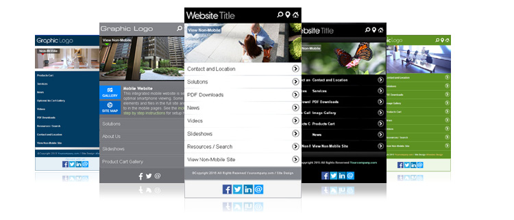Integrated Mobile Version Sub Websites