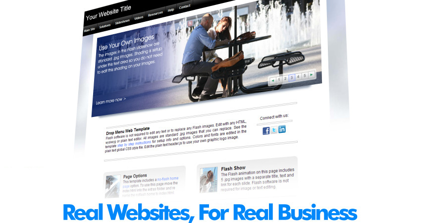 Web templates for real business