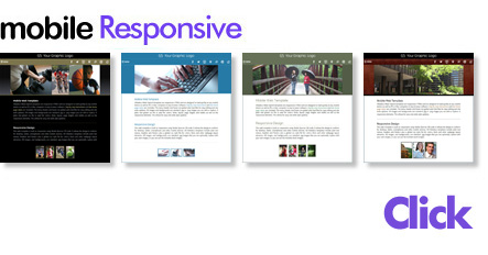 Mobile responsive web templates