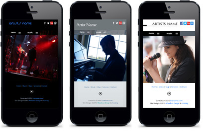 Responsive Musician Website Templates Allwebco Design