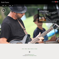 Responsive musician web templates allwebco rwd downloadable html americana mp3 and video website template pronofoot35fo Image collections