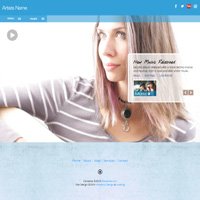 Responsive musician web templates allwebco rwd downloadable html lilith mp3 video responsive web template pronofoot35fo Image collections