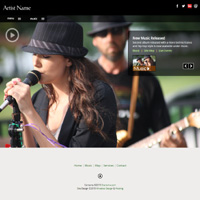 Sell automatic music downloads responsive musician web templates sdl3 americana mp3 and video website template pronofoot35fo Image collections