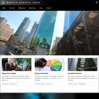 Executive responsive drop menu web template