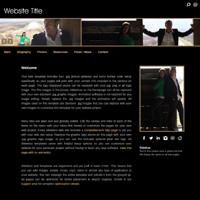 Resume Portfolio HTML Website Templates, Actor, Dancer, Photographer