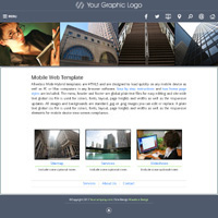 mobi-City: Hybrid HTML5 website template for mobiles, laptops and desktops