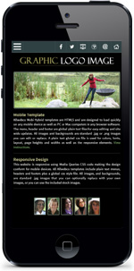 Balance Black: Mobile Friendly Web Template Add-on