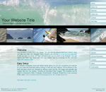 OceanScape: Business ocean theme website template