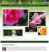 Rose Garden Cart: HTML5 drop menu merchant web template