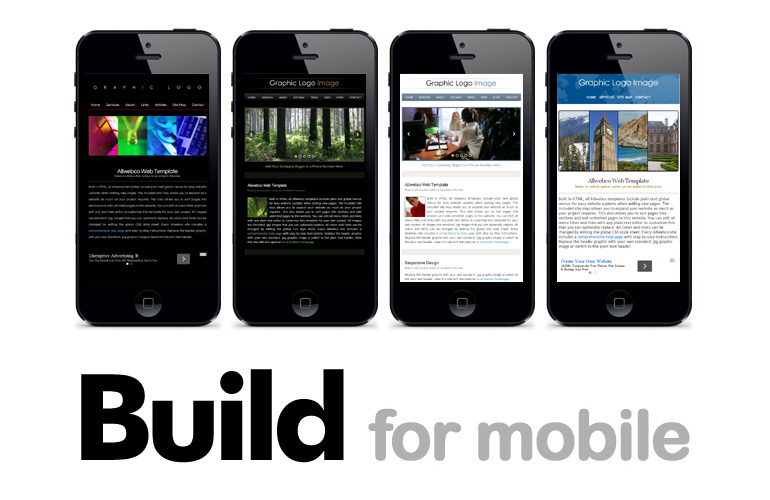 Mobile Friendly Webpage Templates