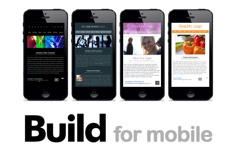 Build for Mobile - Smartphone Responsive Designs