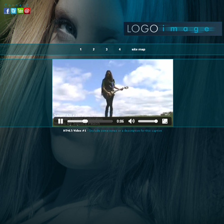 html5 video player template - musician web templates aria html5 music website design