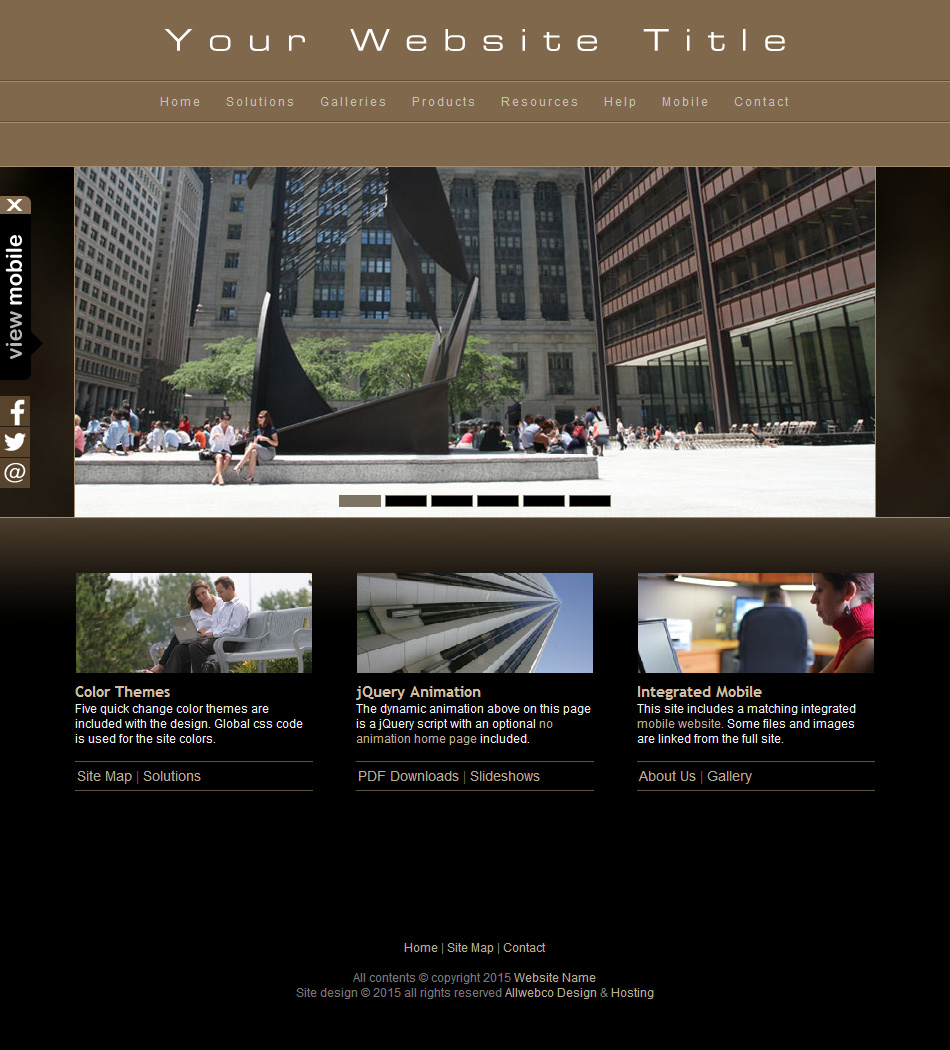 html web template plus mobile photography business with drop menus. Black Bedroom Furniture Sets. Home Design Ideas