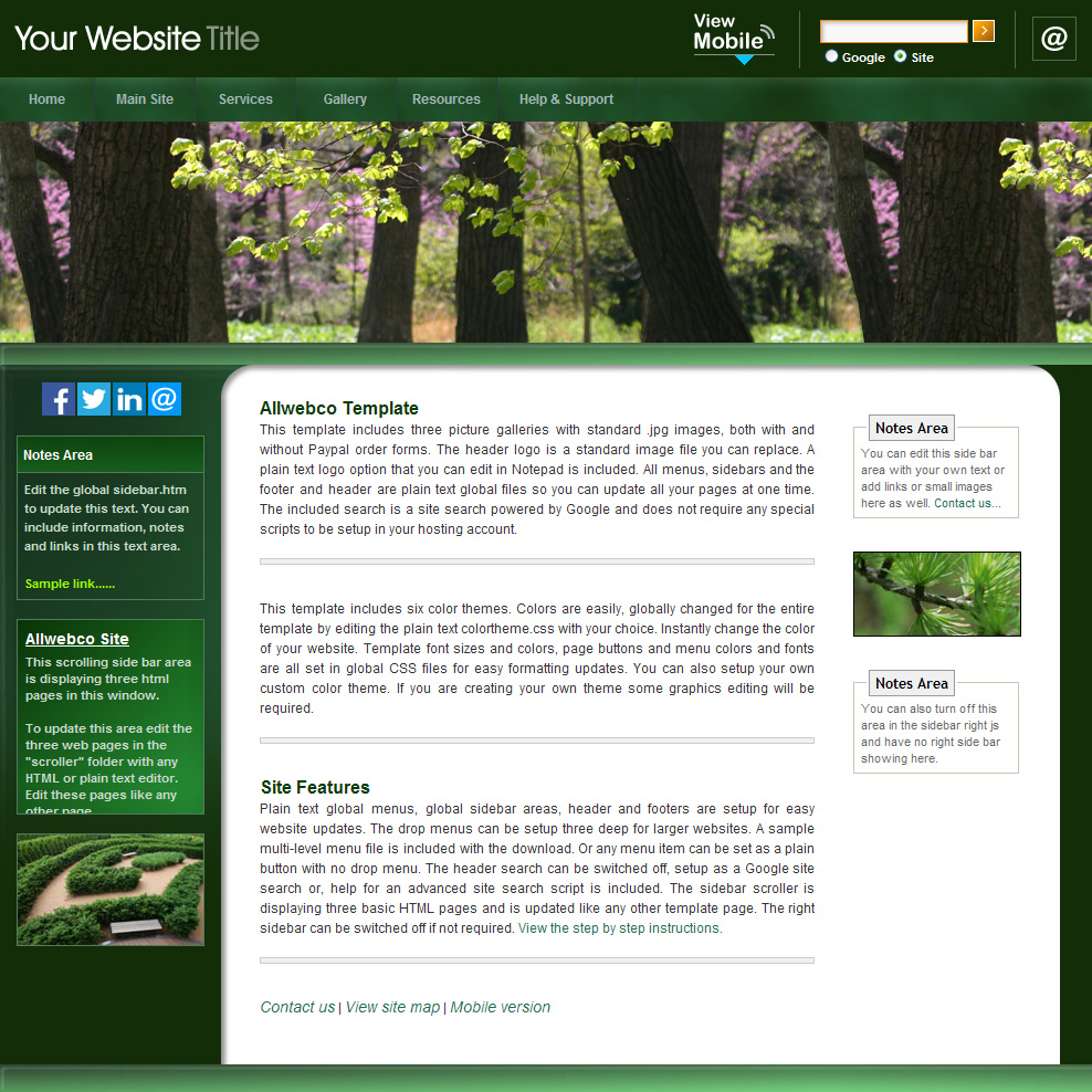Html web template allwebco green business website image An website