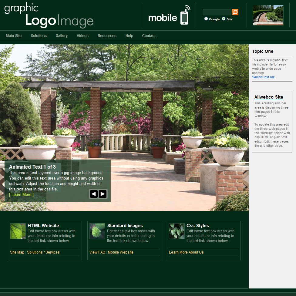 Web Templates With Mobile | Ecosystem Forest Theme